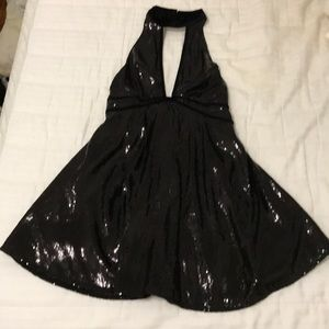Black sequin free people mini dress!